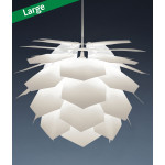 Pineapple Six White Pendant Lamp